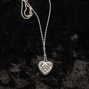 Heart sterling silver necklace